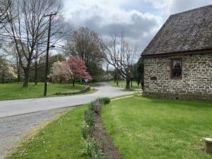 Goose Creek Friends meetinghouse (1735-1819) in Lincoln Virginia VA