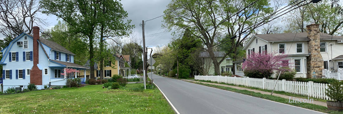 The village of Lincoln in Loudoun County Virginia